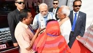 PM Modi meets Doordarshan cameraman's family who was killed in a Maoist attack in October last year
