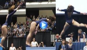 We bet that you had never seen a gymnastic performance like this girl! See her million views video