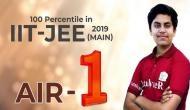 JEE Main 2019: टॉपर ध्रुव ने खोले सफलता के राज, मोबाइल और सोशल मीडिया से रहते थे दूर