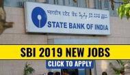 SBI SO recruitment 2019: स्टेट बैंक में निकली इन पदों पर वैकेंसी, मिलेगी बंपर सैलरी