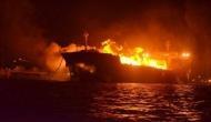 समंदर में दो जहाजों में भीषण आग लगने से जलकर खाक हुए 11 लोग, 15 भारतीय थे सवार