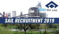 SAIL Recruitment 2019: Hurry up! Few hours left to apply for management trainee, operator, other posts