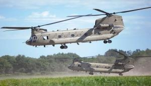 Two heavy-lift chinook helicopters for IAF arrives in Gujarat's Mundra port