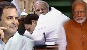 Watch: On Hug Day, Congress takes a swipe at BJP with a video of Rahul Gandhi hugging PM Narendra Modi