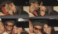 'गली बॉय' की स्पेशल स्क्रीनिंग में पहुंचे रणवीर-दीपिका, कार में करने लगे Kiss, देखें Video