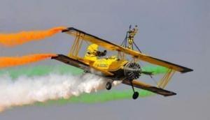 एयरो इंडिया 2019: सूर्यकिरण एयरक्राफ्ट हादसे के शिकार पायलट को इस तरह दी गई श्रद्धांजलि