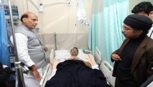Rajnath Singh visits injured DIG of J-K police in AIIMS