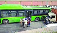 Delhi: 1 dead, 15 injured in truck, DTC bus collision