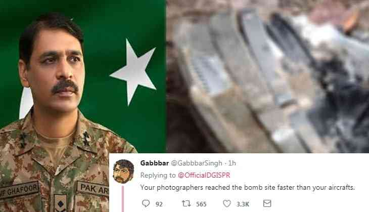 Pulwama Revenge: Users troll Pak Army spokesperson for sharing image