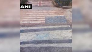 First pictures of Jaish camp out: US, UK, Israeli flags painted on stairs in Balakot that IAF attacked