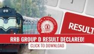 RRB Group D result declared! Over 1 crore aspirants can check their result now; here's how