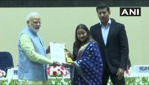 PM Narendra Modi confers National Youth Parliament Festival 2019 at Vigyan Bhavan