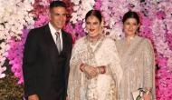 Akshay Kumar, Rekha, and Twinkle Khanna at one frame in Akash-Shloka Ambani post wedding celebration; see video