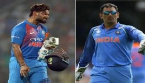 Watch: MS Dhoni welcomes Rishabh Pant in Manchester ahead of Pakistan clash