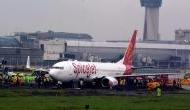 दुबई से जयपुर आ रही स्पाइट जेट विमान का फटा टायर, 189 यात्री थे सवार, देखें वीडियो