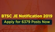 BTSC JE Recruitment 2019: Jobs for Engineers! Apply for 6379 posts before this date; click to read post details