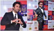 Video: Ranveer Singh kisses and hug Ranbir Kapoor after winning best actor award