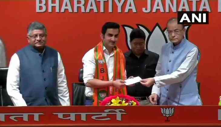 Former cricketer Gautam Gambhir joins BJP, likely to contest Lok Sabha polls
