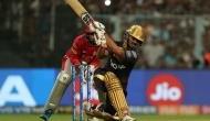 KKRvKXIP: राणा और रसेल के तूफान से कोलकाता ने पंजाब के सामने रखा 219 रनों का लक्ष्य