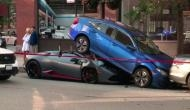 Oh no! Lamborghini sports car driver was left in tears after his expensive car got crashed; here's the viral video