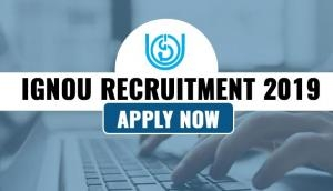 IGNOU Recruitment 2019: Hiring begins for new posts; salary upto Rs 60,000