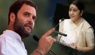 कांग्रेस के लिए आतंकवाद नहीं है कोई मुद्दा तो राहुल गांधी हटा लें SPG सुरक्षा: सुषमा स्वराज