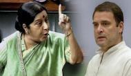 राहुल ने आडवाणी को लेकर दिया विवादित बयान तो सुषमा स्वराज ने लगाई फटकार- 'सोच समझकर बोलना'