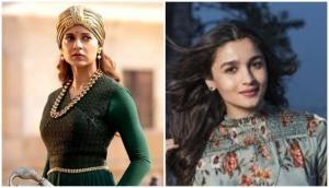 Kalank actress Alia Bhatt breaks her silence on Kangana Ranaut's 'mediocre' remark; gives befitting reply to Manikarnika star