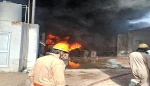 Delhi Fire: Fire breaks out at rubber godown in Siraspur; 26 fire tenders at the spot