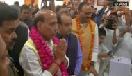 Rajnath Singh visits Lucknow temple ahead of filing nomination