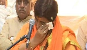 Sadhvi Pragya justifies her candidature from Bhopal, breaks down alleging 'torture' in jail