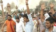Rajput community members protest over bride's abduction in Rajasthan