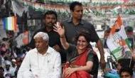 प्रियंका गांधी की रैली में फंसी एंबुलेंस, महिला की तड़प-तड़प कर निकल गई जान