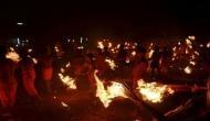 'Agni Kheli' Festival: Devotees throw fire at each other at Karnataka temple
