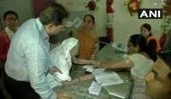 PM Modi's mother casts vote in Gujarat's Gandhinagar district