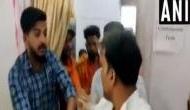 Watch: BJP workers thrash NCP man for showing black flag to Sadhvi Pragya during roadshow