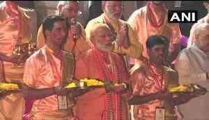 PM Modi performs 'Ganga aarti' at Dashashwamedh Ghat; after mega road show