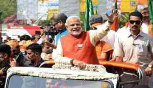 Show of strength: PM Modi's mega roadshow in Varanasi; to file nomination on April 26