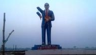 BR Ambedkar's statue damaged by miscreants in UP's Azamgarh