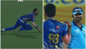 Krunal Pandya takes an amazing running catch, leaves Jasprit Bumrah and umpires in awe