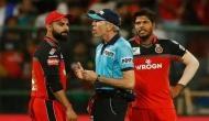 IPL 2019: विराट कोहली से अंपायर की हुई तकरार, गुस्से में खोया आपा, लात मारकर तोड़ दिया..