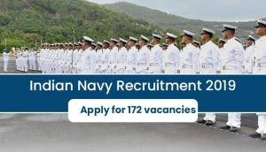 Indian Navy Recruitment 2019: Apply for latest vacancies released for 172 posts; read selection process details
