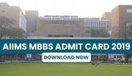 AIIMS MBBS 2019: एडमिट कार्ड जारी, कुल 1120 उम्मीदवारों का होगा चयन