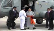 सेना के हेलिकॉप्टर से केदारनाथ पहुंचे पीएम मोदी, अनोखे अंदाज में नजर आए 'प्रधान सेवक'