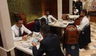 Virat Kohli, Hardik Pandya in serious discussion while MS Dhoni, Chahal playing PUBG; see pics