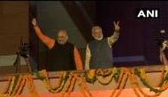 Video: BJP की प्रचंड जीत, PM मोदी का हुआ 'महानायक' जैसा स्वागत, एक झलक पाने के लिए बेताब दिखे लोग