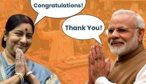 Sushma Swaraj congratulates PM Modi as he leads in Varanasi; here's what she said