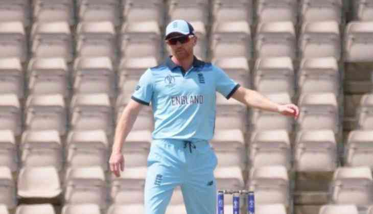 England's assistant coach Paul Collingwood comes into field as substitute, impresses fans