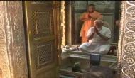 प्रचंड जीत के बाद काशी में पीएम मोदी ने शाह और योगी के साथ किये बाबा विश्वनाथ के दर्शन