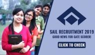 SAIL Recruitment 2019: Apply for this post and get selection through GATE score; know how